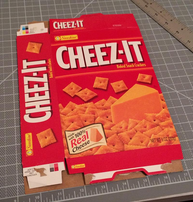 Cheez-It paperboard box