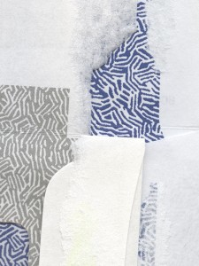 grey and white envelope collage snail mail security