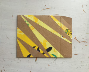 Recycled La Croix Greeting Cards yellow