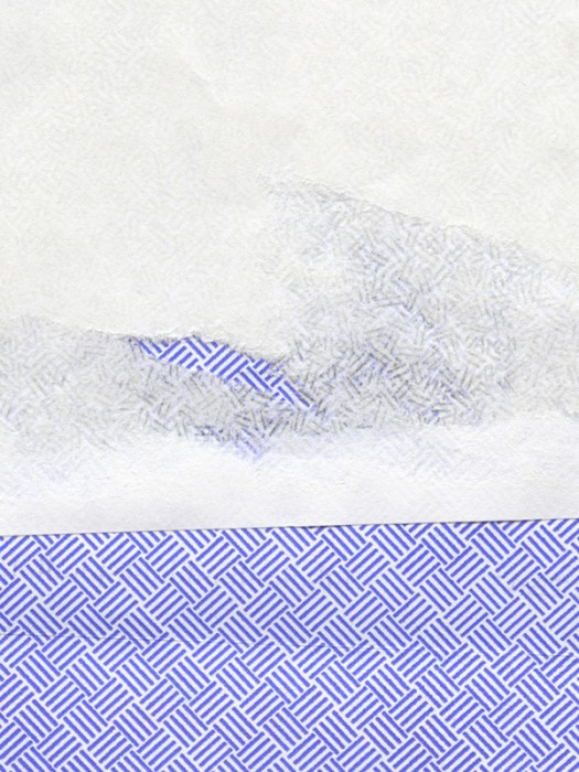 purple, grey and white envelope collage snail mail security