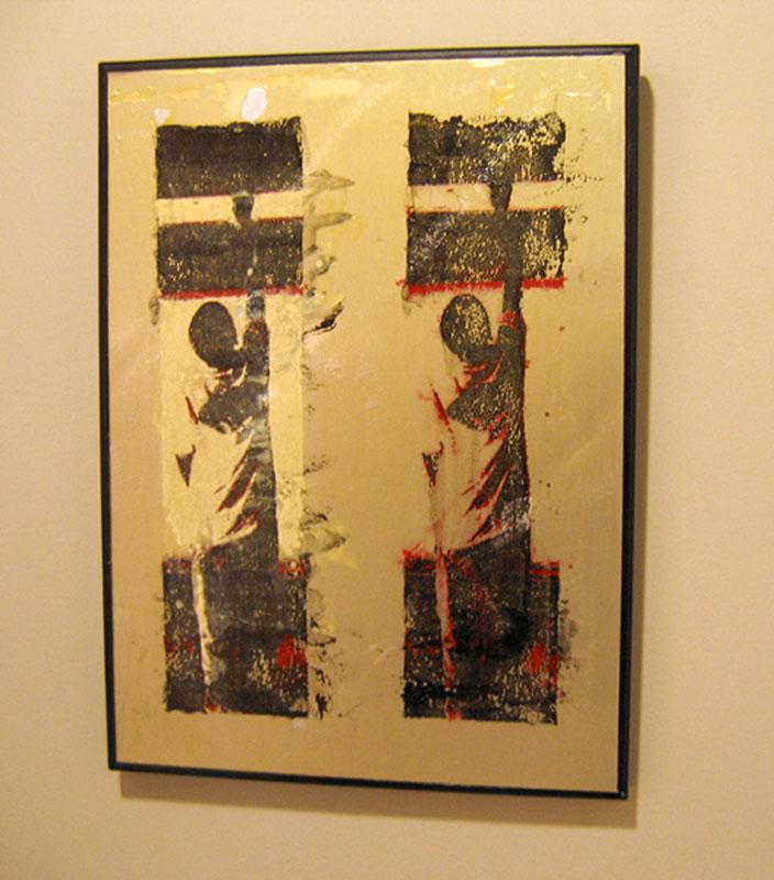 acrylic print on metal layered with shellac, prints on metal