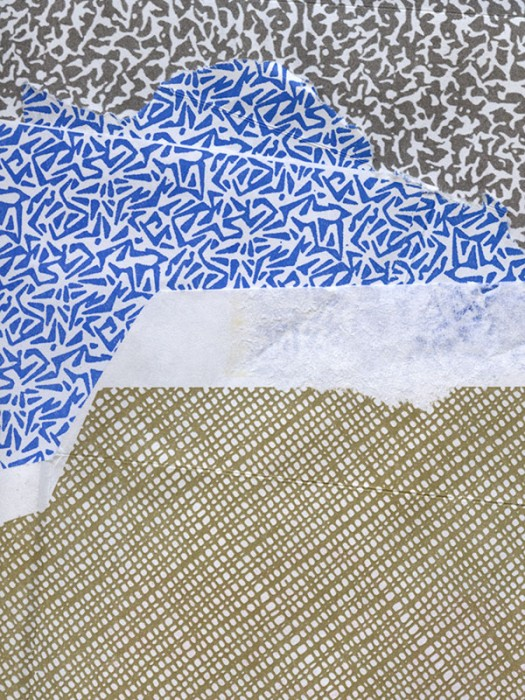 blue, brown, black and white envelope collage snail mail security