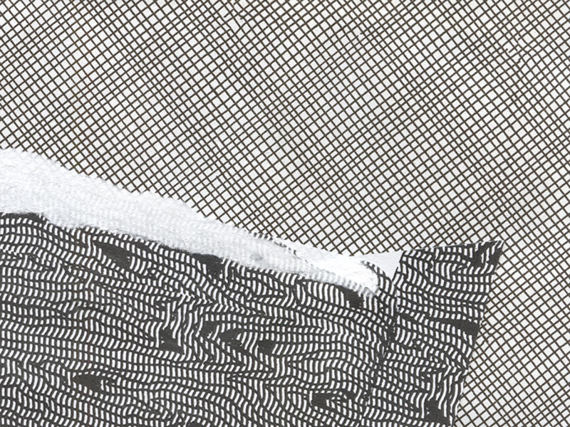 black and white envelope collage snail mail security